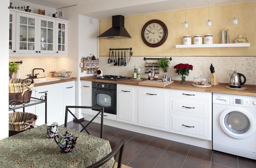 波蘭法式鄉村風公寓  DECOmyplace 新聞 -> Urządzanie Kuchni Z Jadalnią