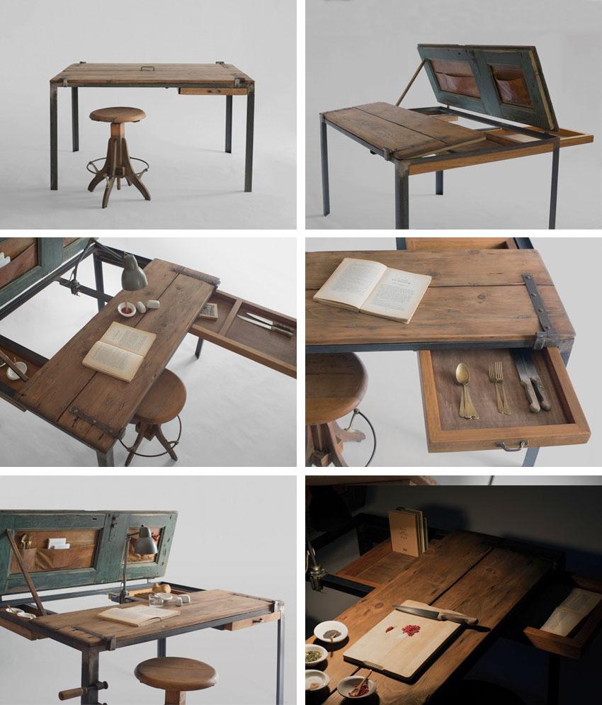 古董家具回收_5 款由舊物改造的復古木桌 MANOTECA - DECOmyplace 裝潢裝修、室內設計 ...