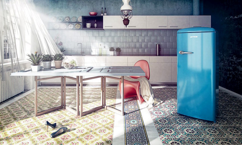 超美的! Gorenje 復古單門冰箱