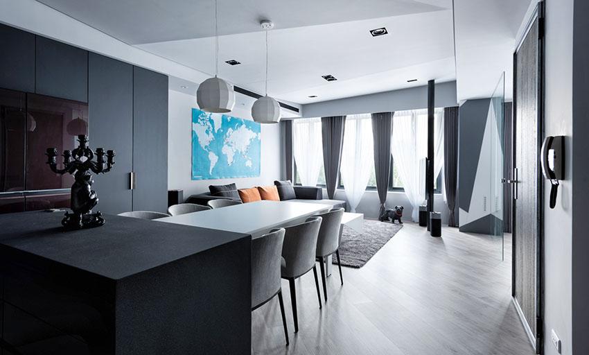 台北40 坪低彩度现代风公寓