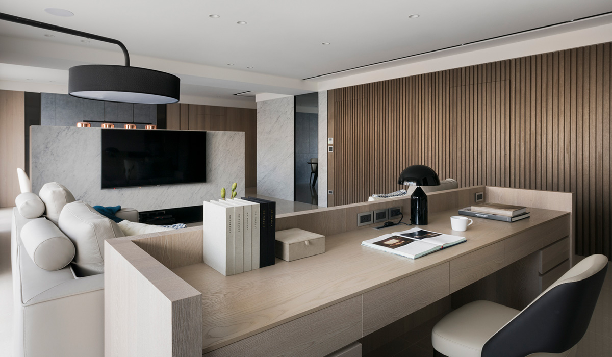 「專訪」展開敞朗的視野!桃園 55 坪現代簡約透亮宅 - 六木設計