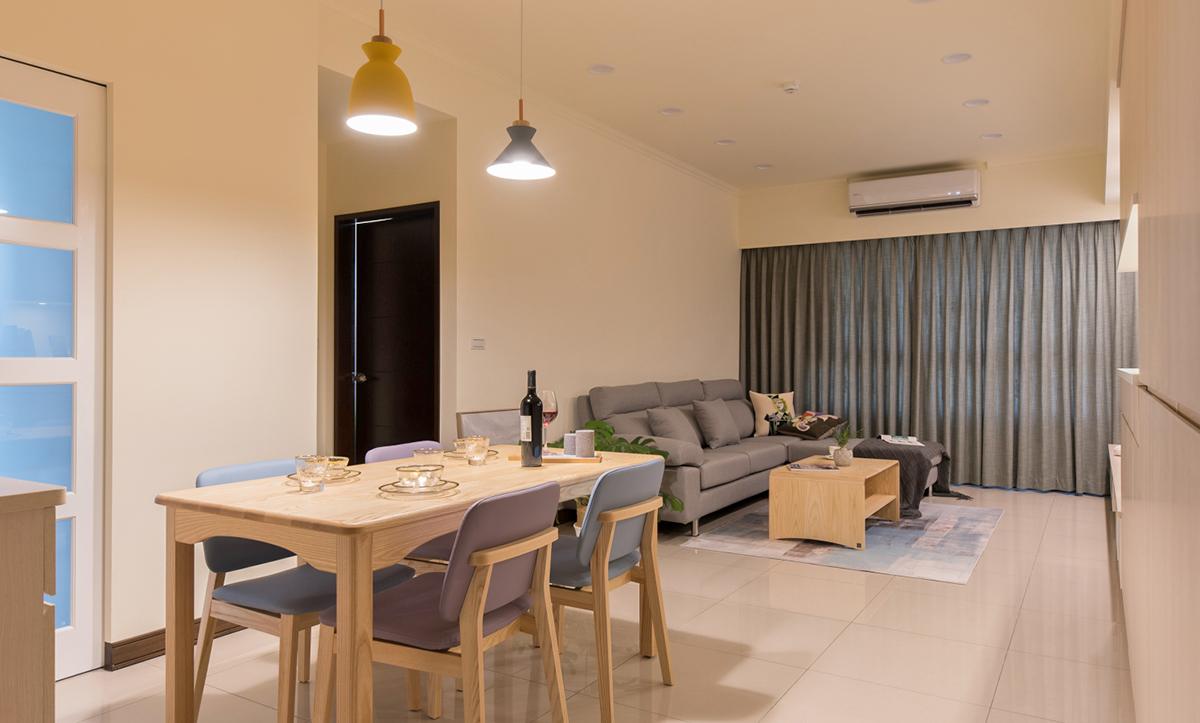 客廳餐廳開放空間裝潢設計
